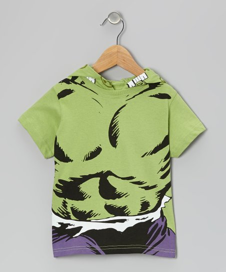 Green Hulk Short-Sleeve Hoodie - Toddler & Boys