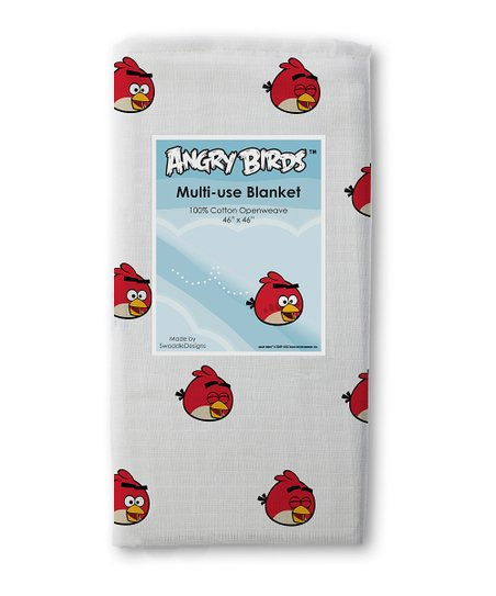 Red Angry Birds Marquisette Swaddling Blanket