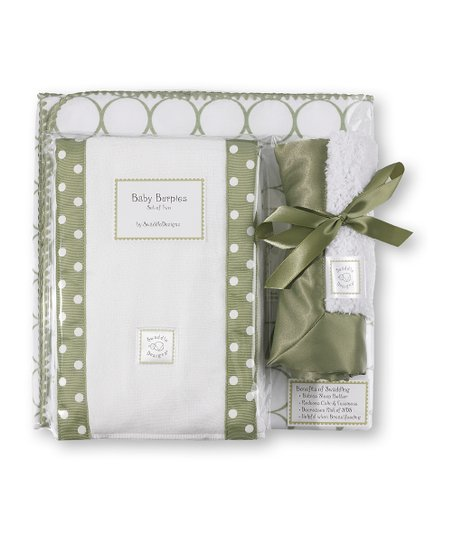 Sage Mod Circle Blanket Gift Set