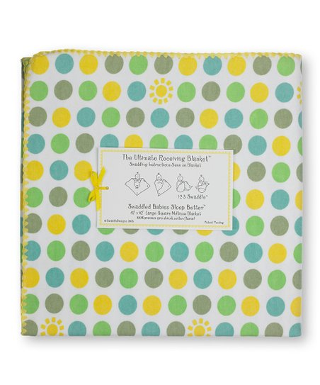 Yellow Dots & Suns Ultimate Receiving Blanket