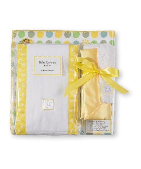 Yellow Dots & Suns Blanket Gift Set