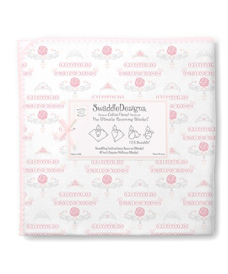 Pastel Pink Little Princess Ultimate Receiving Blanket