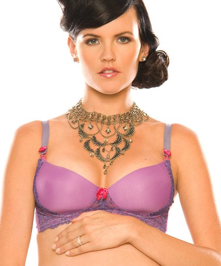 Azalea Orchid Wireless Nursing Bra