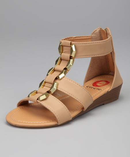 Natural & Gold Sabrina Gladiator Sandal