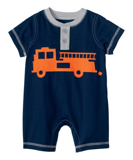 Navy All-in-One Graphic Romper - Infant