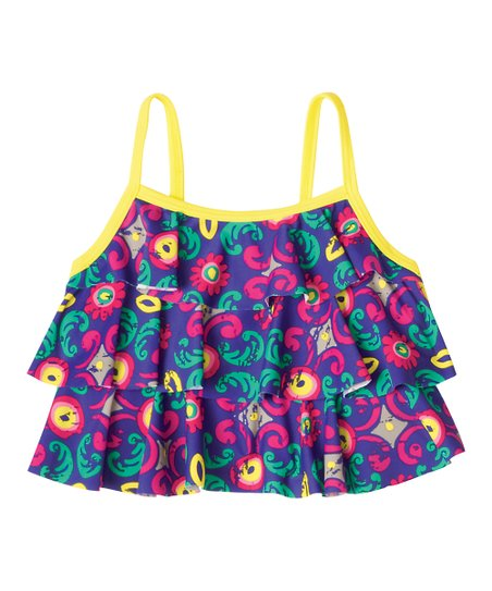 Purple Make a Splash Tankini Swim Top - Infant, Toddler & Girls