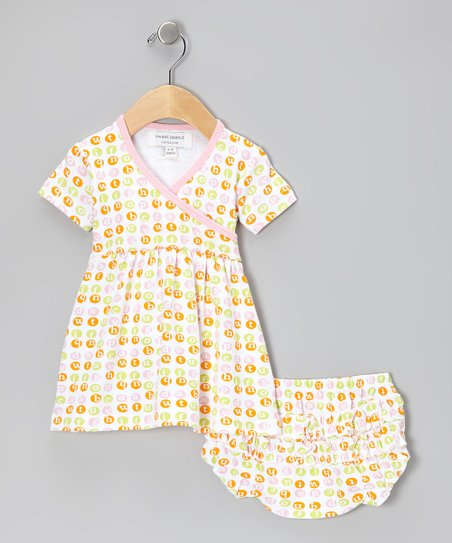 Pink Dot Organic Dress & Diaper Cover