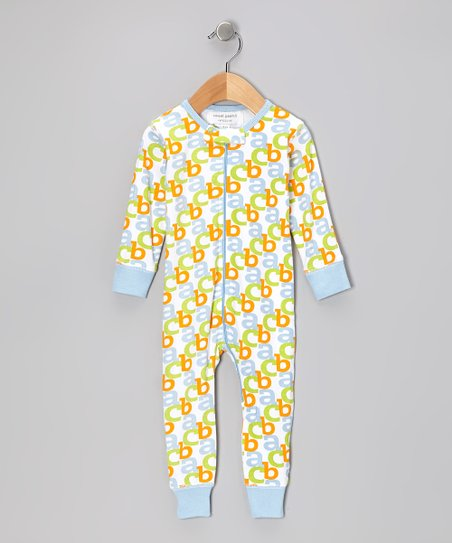 Baby Blue 'ABC' Organic Playsuit - Infant