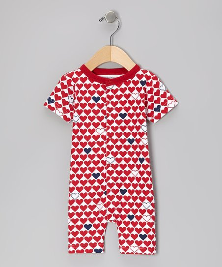 Red L'Amour Organic Romper