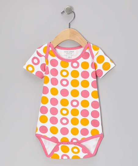 Pink & Orange Dot Organic Bodysuit