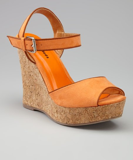 Orange IN-27 Wedge Sandal