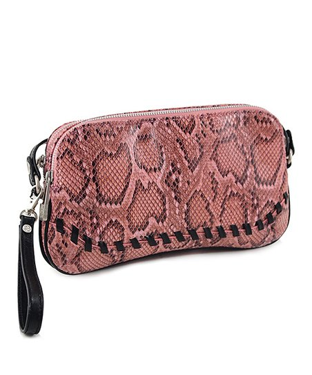 Rose Python Convertible Clutch