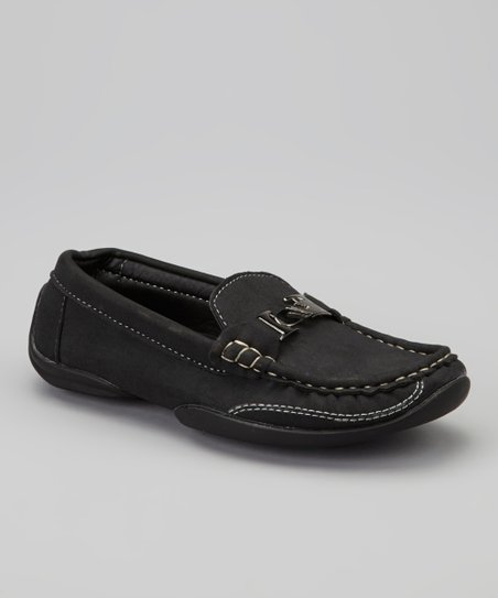 Black Contrast Trim Loafer