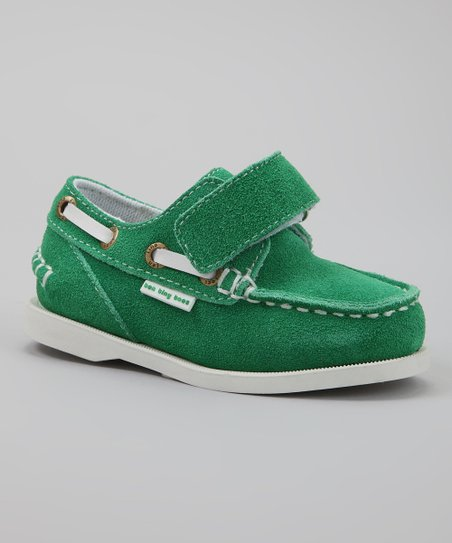 Green & White Spinaker Boat Shoe