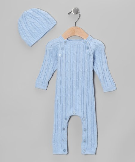 Blue Soft as Pashmina Playsuit & Beanie