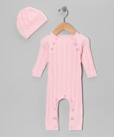 Pink Soft as Pashmina Playsuit & Beanie