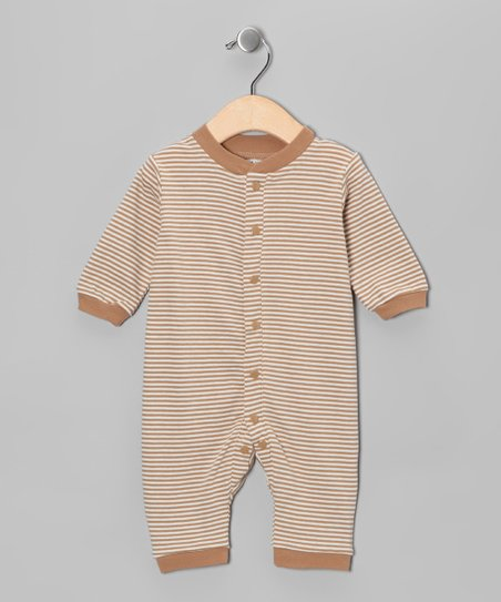 Cocoa Stripe Organic Romper - Infant