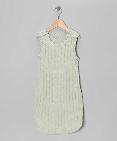 Sage Cable-Knit Sleeping Sack