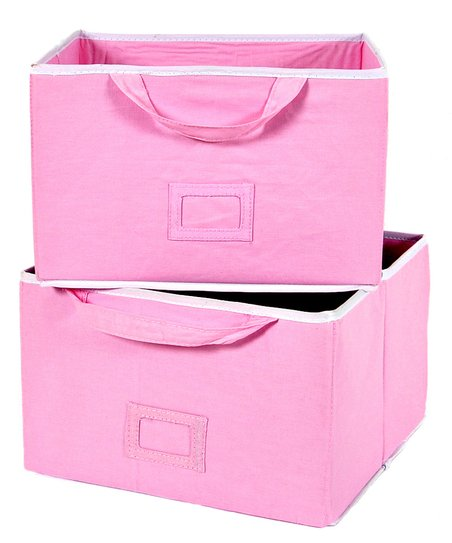 Pink Large Storage Bin - Set of Two