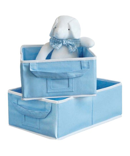 Blue Small Storage Bin - Set of Two