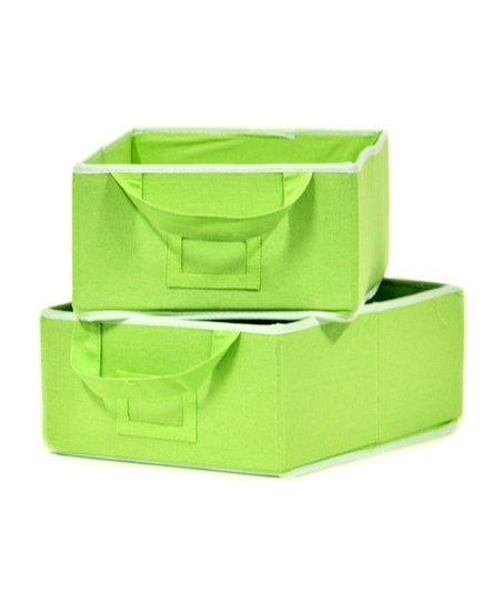Green Small Storage Bin - Set of Two