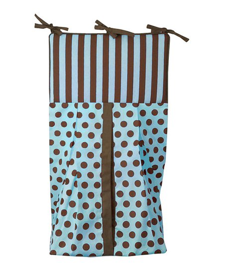 Blue &amp; Brown Polka Dot Diaper Stacker