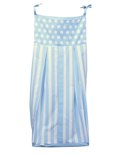 Blue Polka Dot & Stripe Diaper Stacker
