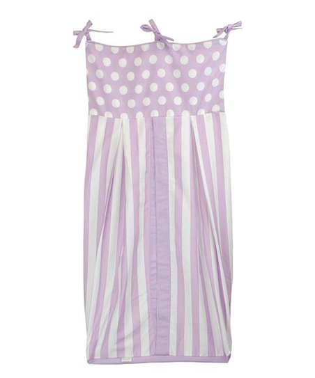 Lilac Polka Dot &amp; Stripe Diaper Stacker