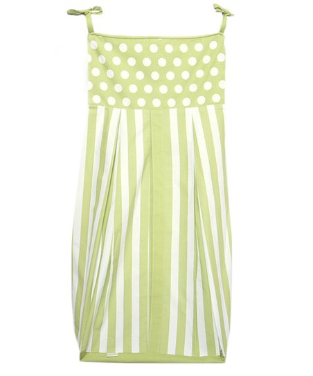 Green Polka Dot & Stripe Diaper Stacker