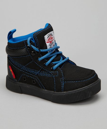 Black & Royal King Hi-Top Sneaker