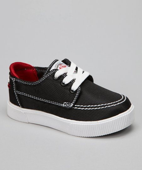 Black & Red Casual Moc Sneaker