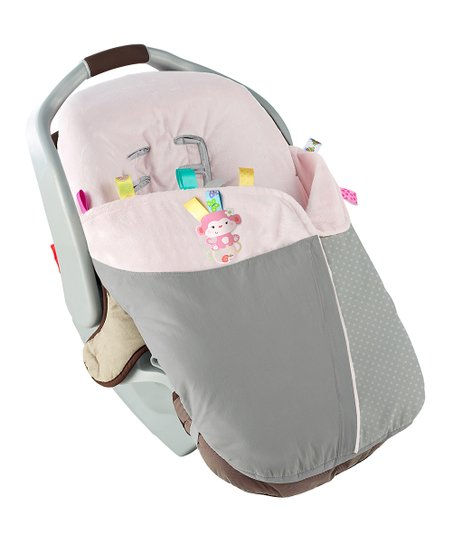 Gray & Light Pink Snuggle 'n' Stroll Carrier Blanket