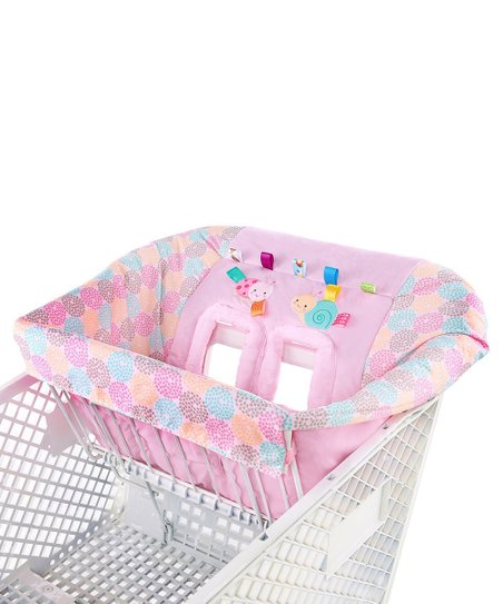 Pink Flower Tag 'N' Go Plush Cart Cover