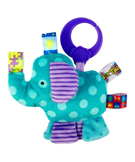 Blue Elephant Friend for Me Clip-On Plush Toy