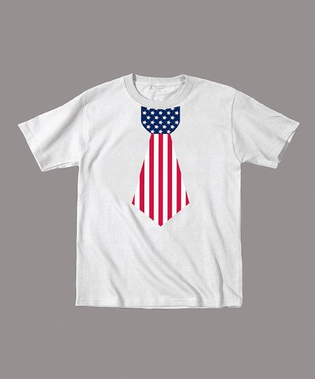 White American Flag Tie Tee - Toddler & Boys