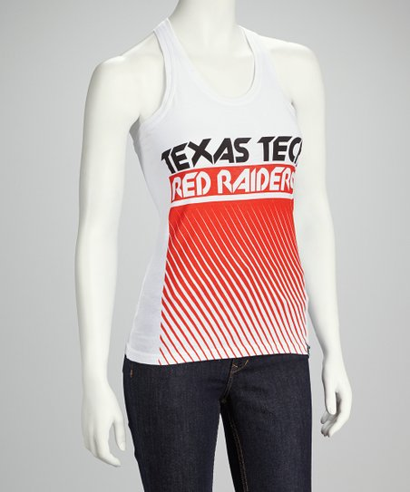 Texas Tech Red Raiders White Fade Out Tank - Women