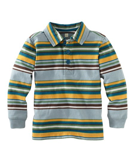 Stratford Blue Ski Stripe Polo - Infant, Toddler & Boys