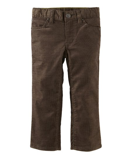 Dark Moss Awesome Corduroy Pants - Infant, Toddler &amp; Boys