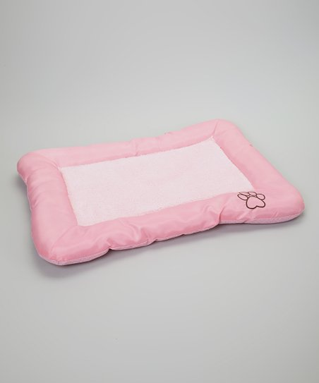 Light Pink Paw Pet Crate Pad