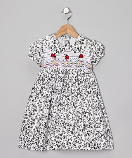 Black Ladybug Dress - Infant