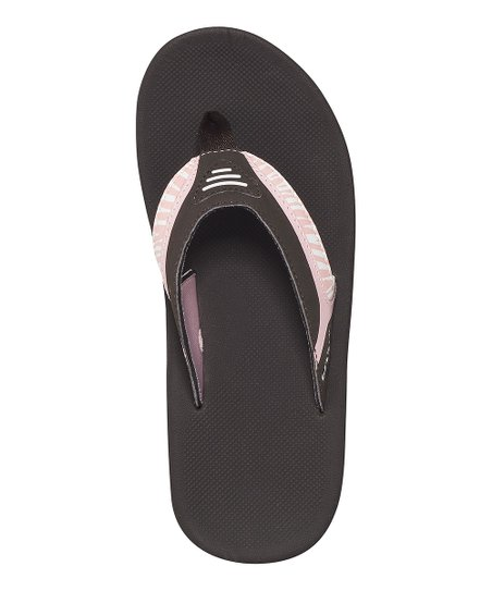 Brown & Pink Zebra Slap 2 Flip-Flop