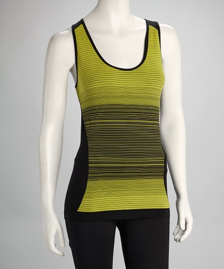 Black & Canary Yellow Space-Dye Tank