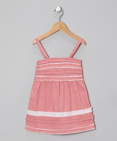 Pink Polka Dot Violet Dress – Infant & Toddler