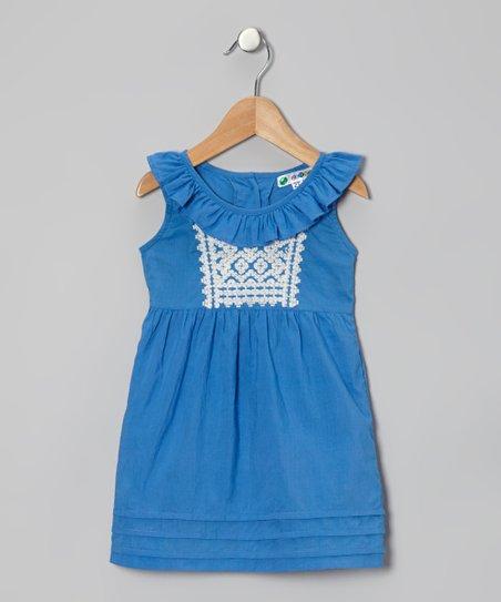 Blue Nona Dress – Infant & Toddler