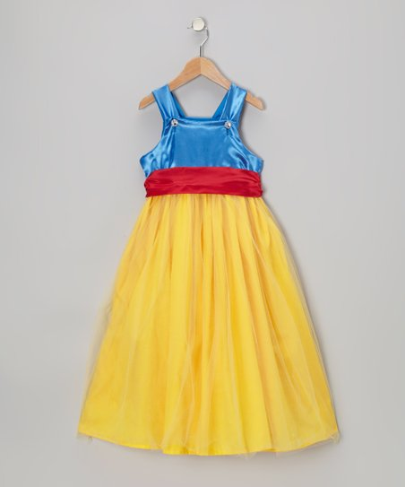 Blue & Yellow Princess A-Line Dress - Toddler & Girls