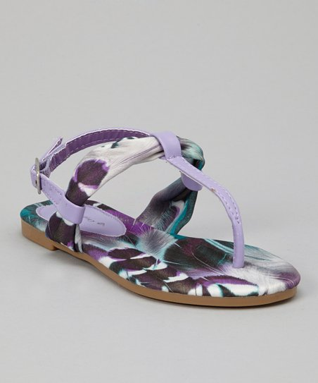 Purple Feather Sandal