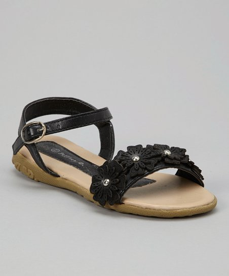 Black Daisy Sandal - Kids