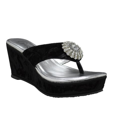 Black Jozlynn Wedge Sandal