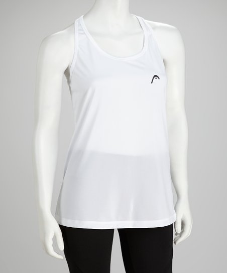 Stark White Heather Racerback Tank