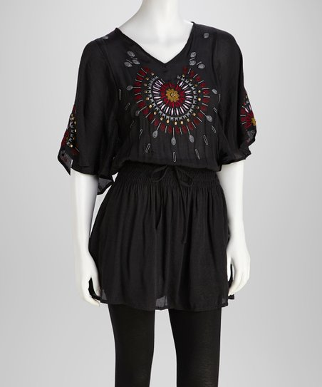 Black Dream Catcher Tunic